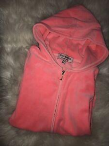 Juicy Couture Light Neon Pink Zip Up With Hood