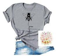 Women Bee Kind Peace Blouse Casual Ladies Tee Funny Summer Kindness Top T-Shirt