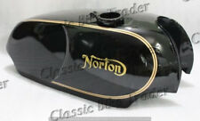 NORTON COMMANDO ROADSTER COMBAT GAS FUEL PETROL TANK BLACK PAINTED