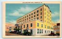 GAINESVILLE, Georgia GA DIXIE HUNT HOTEL 1940s Linen Roadside Postcard A84