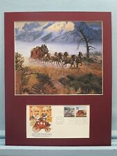 The Stagecoach Connects America with the Overland Mail Service & First Day Cover