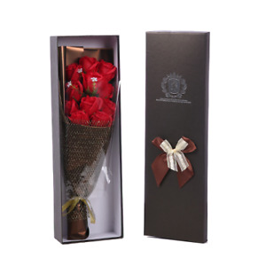 Soap Flowers Red Rose Bouquet Gift Box Handmade Luxury Scented Soap Great Gift