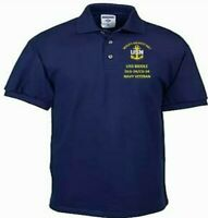 USS BIDDLE  DLG-34/CG-34  NAVY EMBROIDERED LIGHT WEIGHT POLO SHIRT