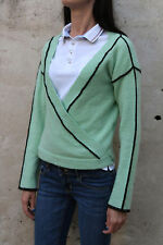 DIESEL Kimono 80s LADIES JUMPER 80s GREEN MOHAIR Knitted Jumper Top Wrap XS