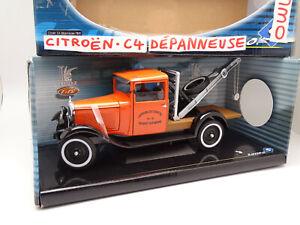 Solido 1/18 - Citroen C4 Tow Truck 1930 Nogent On Marl