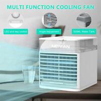 NEXFAN Portable Air Cooler LED Light USB Desk Fan 3 Speed USB Air Conditioner @
