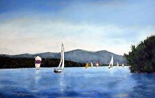 Smith Mountain Lake Fall Regatta #4 (5.3 x 8.3) --Giclee