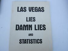 Las Vegas Lies Damn Lies and Statistics Nevada Gambling Vintage 1978