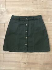 Ladies Dark Khaki Cargo Skirt Size 12