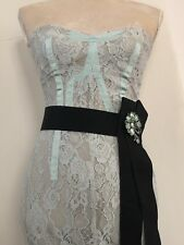 Karen millen Pastel Green Lace Strapless Wiggle Dress Size 10UK/ US 2-4