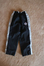 Converse Kids Black White Striped Laced Activewear Pants Size 4-5Y (104-110 cm)
