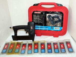 Craftsman 351.181730 Brad Nailer Kit + Case + 10 Boxes 18 Ga Nails