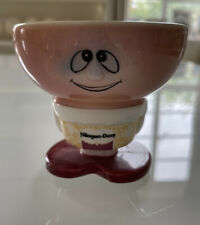 More details for haagen dazs ice cream bowl rare vintage retro cute with face vgc collectable 90s