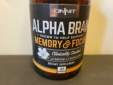 Onnit Alpha Brain - Memory & Focus Supplement - 30 Capsules Exp 2022