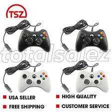 4 For Xbox 360 Black White USB PC Windows Video Game Pad Controller PC Windows