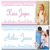 Personalised party banners Christening, Communion Boy Girl Photo banner birthday