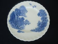 vintage grindley blue & white china meadow brook entree plate