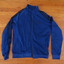 Adidas Blue / Black Men's Track Jacket Size Medium M Full Front Zip
