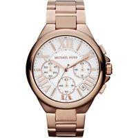 NUEVO ORIGINAL MICHAEL KORS MK5757 Mujer Camille Reloj Cronógrafo Oro Rosa