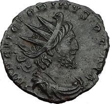 VICTORINUS 268AD Gallic Empire Authentic Ancient Roman Coin SOL Sun God i65515