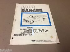 FORD 1983 RANGER SERVICE MANUAL BODY/POWERTRAIN/CHASSIS/ELECTRICAL/CLIMATE