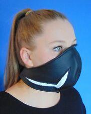 Rind Leder Mund Bedeckung Wind-Schutz Gesichtsmaske Steampunk Biker Maske *B*tw
