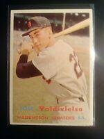 1957 TOPPS #246 Jose Valdivielso Senator NrMt NM SHARP Well Centered High Grade