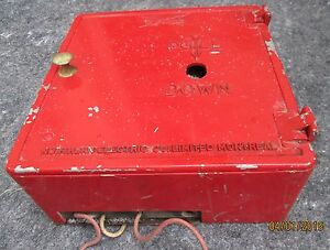 VINTAGE GAMEWELL ALARM BOX FIRE EMERGENCY CALL BOX NORTHERN ELECTRIC CO.