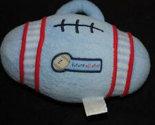 Carters Future all Star Football Lovey Plush Rattle Toy Blue Baby Boy Soft