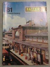 Faller  -- Modellbau Katalog  1981 !