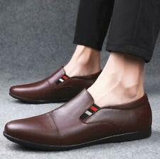 Men's Leather Round Toe Soft Heel Casual Flat Boat Shoes Loafers Leisure Shoes