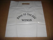 """Wings """"Back To The Egg"""" White Plastic Carry Bag Record Store Promo RARE EX. 1979"""