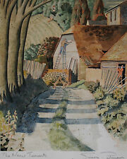 ORIGINAL SIMON PALMER PAINTING, SIGNED & TITLED, CONSERVATION MOUNTING