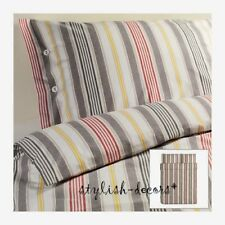 IKEA Duvet Cover Quilt Cover 3 pcs Set Full Queen Striped Gray Red Akerfraken