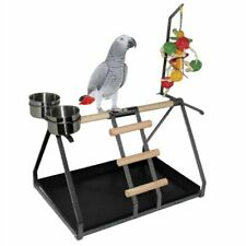 Scicalife Bird Parrot Wooden Curved Stand Wooden Hanging Perch Toy Wood Fork Pole Stick Cage Accessories for Parrots Love Birds