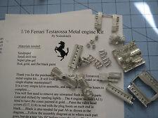 1/16 Ferrari Testarossa All Metal Engine Kit Upgrade Transkit Fujimi Revell