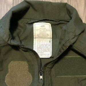 USAF MILITARY FLIGHT SUIT CWU-27/P Coveralls Sage Green Flyers 40R NOMEX Type1