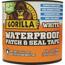 New listing Gorilla 4 In. x 10 Ft. Waterproof Patch & Seal Repair Tape, White 101895 - 1