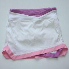 Ivivva Athletica Set For Speed  White Skirt Skort size 8