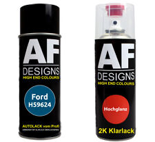 Autolack Spraydose Set Ford H59624 Burma Blue Metallic 2k Klarlack Sprühdose 400