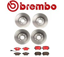 For Audi A3 VW Beetle Golf Front Rear Disc Brake Rotors Ceramic Pads Kit Brembo