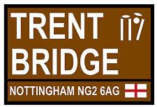 CRICKET - ROAD SIGNS (TRENT BRIDGE) - SOUVENIR NOVELTY FRIDGE MAGNET - GIFT NEW