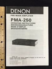 denon pma-250 vollverstärker original owners manual kombiniert sprache 17pg