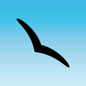 Sticker schwalbe 25cm Black Silhouette Narrow Discrete Warning Bird Window Glass