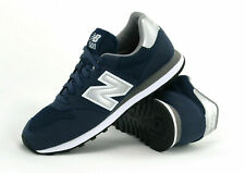 New Balance Mens 500 Trainers Classic Retro Navy Blue Silver & White