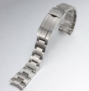 Brushed 316L Stainless Steel Solid Watch Band Strap Replacement Bracelet 20 21mm