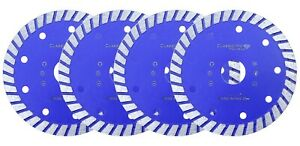 4x Classicpro Stone Porcelain Tile Turbo Diamond Dry Cutting blade/Disc 115mm