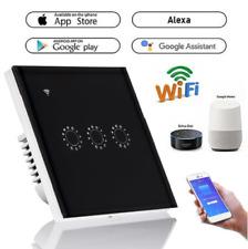 Touch smart panel wall switch 1/2/3 Gang Wifi light switch US / EU Standard