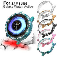 Crystal Diamonds Cover Frame Coverage For Samsung Galaxy Watch Active SM-R500