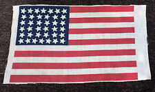 "Vintage 38 Star Flag Parade Size 7"" x 11-3/4"""